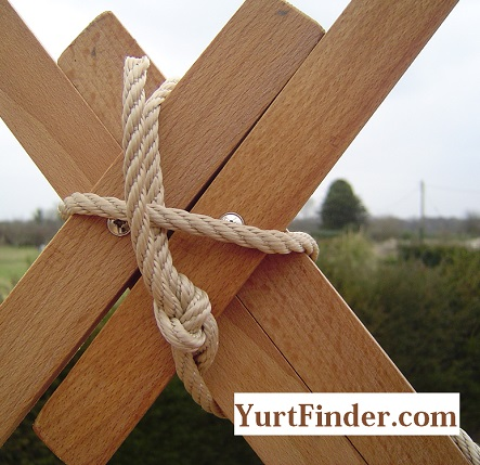 Yurt Khana. Wood Frame of Yurt.