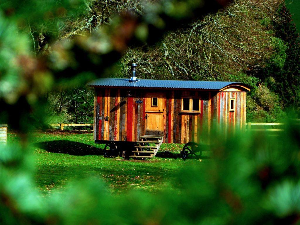 Glamping Shepherd Hut