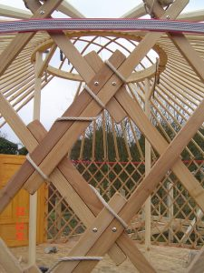 Yurt Frame Under Construction