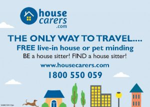 Pet and Home sitting service advertisement
